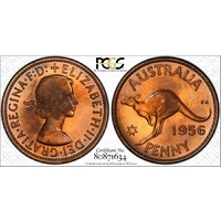 1956(m) PCGS PR64RB Australian Proof Penny Melbourne Mint
