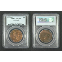 1958(m) PCGS PR62RB Australian Proof Penny Melbourne Mint