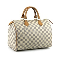 Genuine Louis Vuitton Speedy 30 Damier Azur Canvas Bag N41370