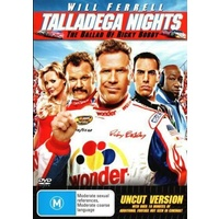 TALLADEGA NIGHTS THE BALLAD OF RICKY BOBBY Will Ferrell DVD R4 PAL