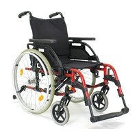 "Sunrise Medical Breezy BasiX 2 Folding Self Propelled 16"" Wheelchair Red"