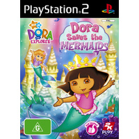 DORA SAVES THE MERMAIDS Playstation 2 PS2 GAME PAL + Booklet