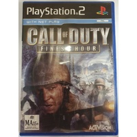 Call Of Duty Finest Hour Sony PlayStation 2 Game Disc