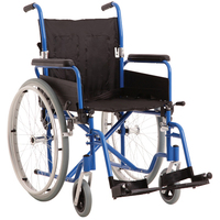 MLE Economy Aluminium Wheelchair Easy Fold Folding Backrest - Blue