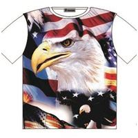 T-Shirt USA Patriot USA Eagle & Flag Street Fashion Mens Ladies AU STOCK