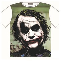 The Joker Heath Ledger character Print T-Shirt Attitude Street Fashion Mens Ladies AU STOCK