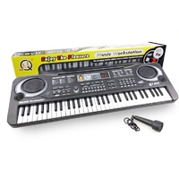 61 Key Electronic Kids Mini Keyboard 10 Rhythm + Bonus Microphone