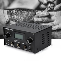 Tattoo Power Supply Digital LCD Dual Machine + Australian Power Chord