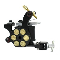 Tattoo Machine Gun for lining and shading Dual 10-wrap Coil Professional tattoo Gun BLACK Bullet Style AU STOCK