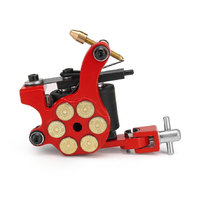 Tattoo Machine Gun for lining and shading Dual 10-wrap Coil Professional tattoo Gun RED Bullet Style AU STOCK