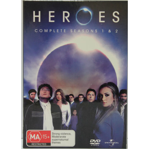 HEROES COMPLETE SEASON 1 AND 2 Hayden Panettiere 11-Disc Set DVD R4 PAL