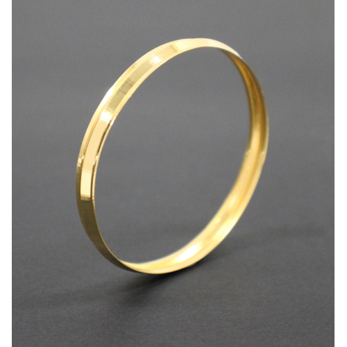 Kids 22K Solid Yellow Gold Round Bangle Bracelet 7.1 Grams