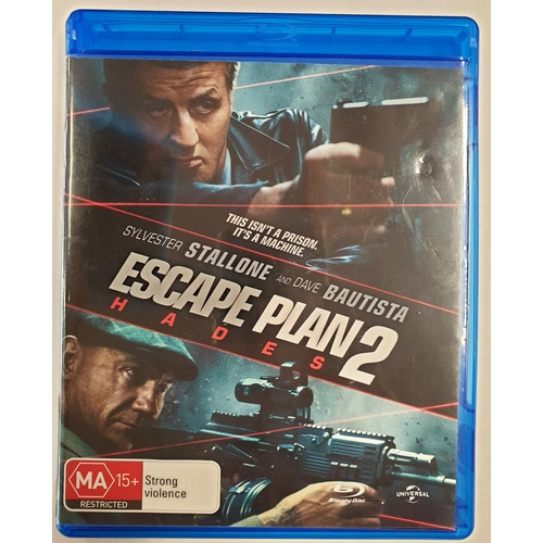 Escape Plan 2 Hades Stallone Bautista Blu-ray Movie Disc
