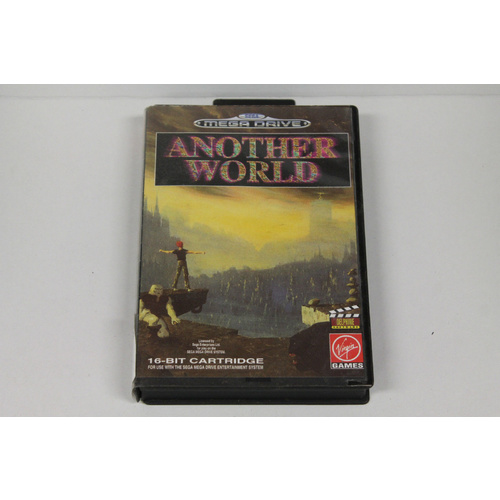 ANOTHER WORLD Sega Mega Drive Game with Original Case + Booklet